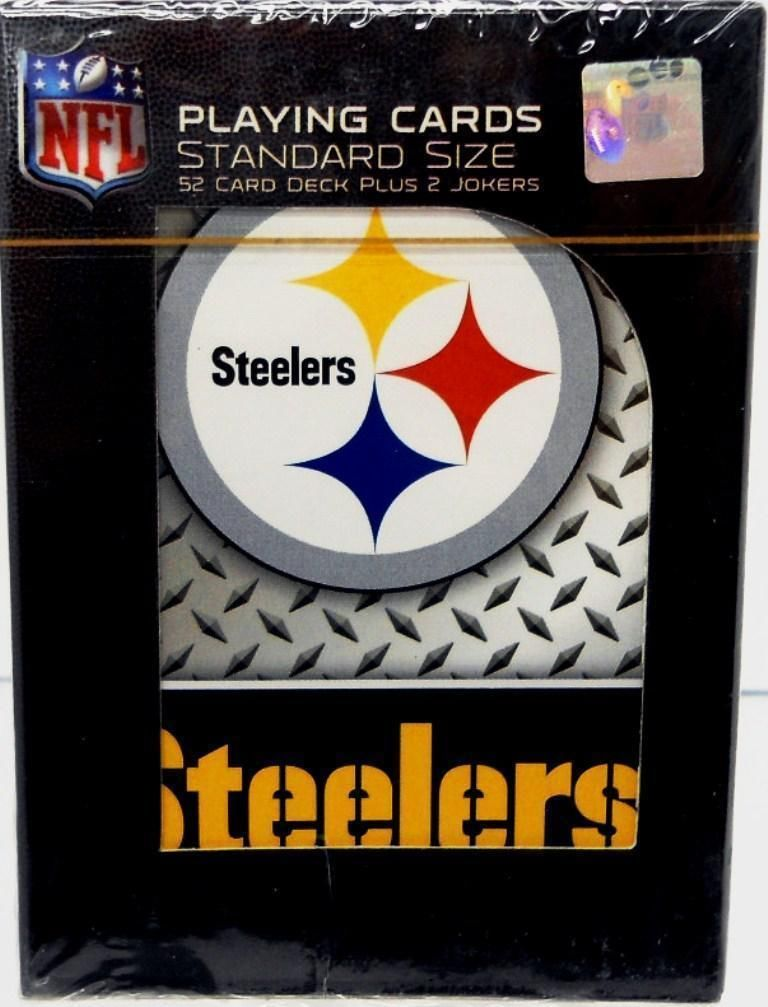 PITTSBURGH STEELERS 52 PLAYING CARDS DECK DIAMOND PLATE POKER  NFL FOOTBALL