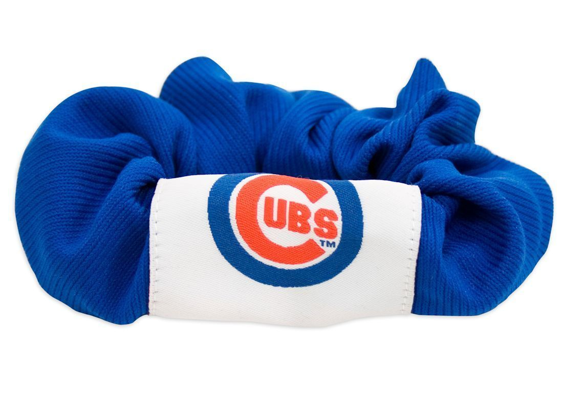CHICAGO CUBS SCRUNCHIE HAIR TWIST PONY TAIL HOLDER TEAM MLB BASEBALL
