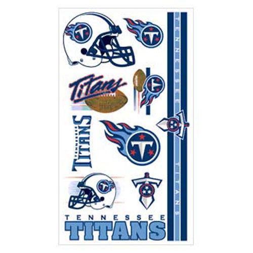 TENNESSEE TITANS TEMPORARY TATTOOS TAILGATE PARTY FACE BODY NFL FOOTBALL
