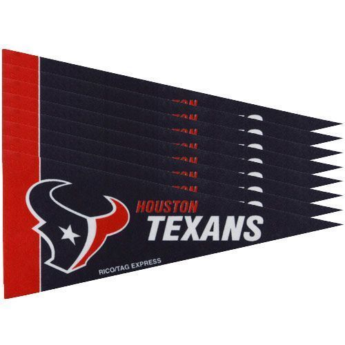 HOUSTON TEXANS 8 PIECE FELT MINI PENNANTS SET PACK NFL FOOTBALL