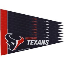 HOUSTON TEXANS 8 PIECE FELT MINI PENNANTS SET PACK NFL FOOTBALL - $6.82