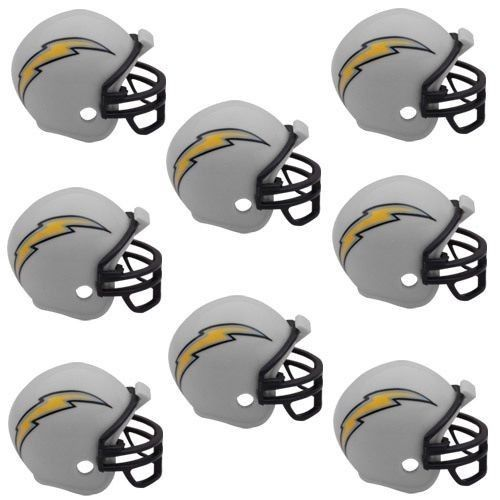 SAN DIEGO CHARGERS 8 PARTY PACK NFL FOOTBALL HELMETS RIDDELL #1