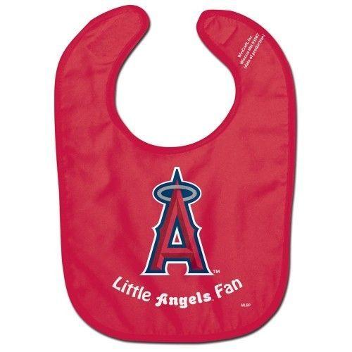 LOS ANGELES ANGELS ALL PRO BABY BIB VELCRO CLOSURE TEAM LOGO MLB BASEBALL