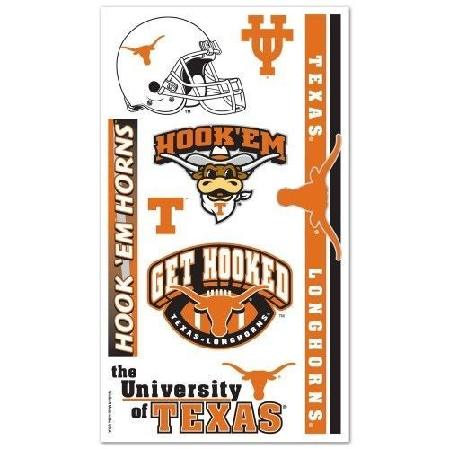 TEXAS LONGHORNS TEMPORARY TATTOOS FACE BODY GAME DAY TAILGATE PARTY