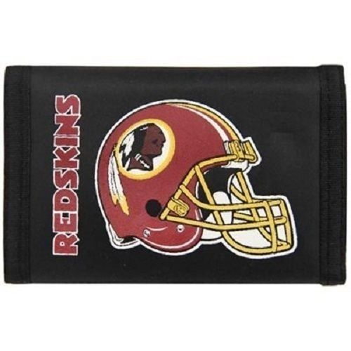 WASHINGTON REDSKINS TEAM LOGO NYLON TRIFOLD WALLET NFL FOOTBALL