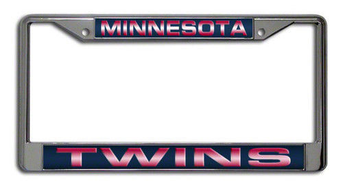MINNESOTA TWINS CAR AUTO LASER MIRROR CHROME LICENSE PLATE FRAME MLB BASEBALL