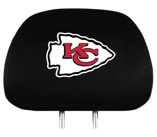 KANSAS CITY CHIEFS  CAR AUTO 2 TEAM HEADREST COVERS NFL FOOTBALL