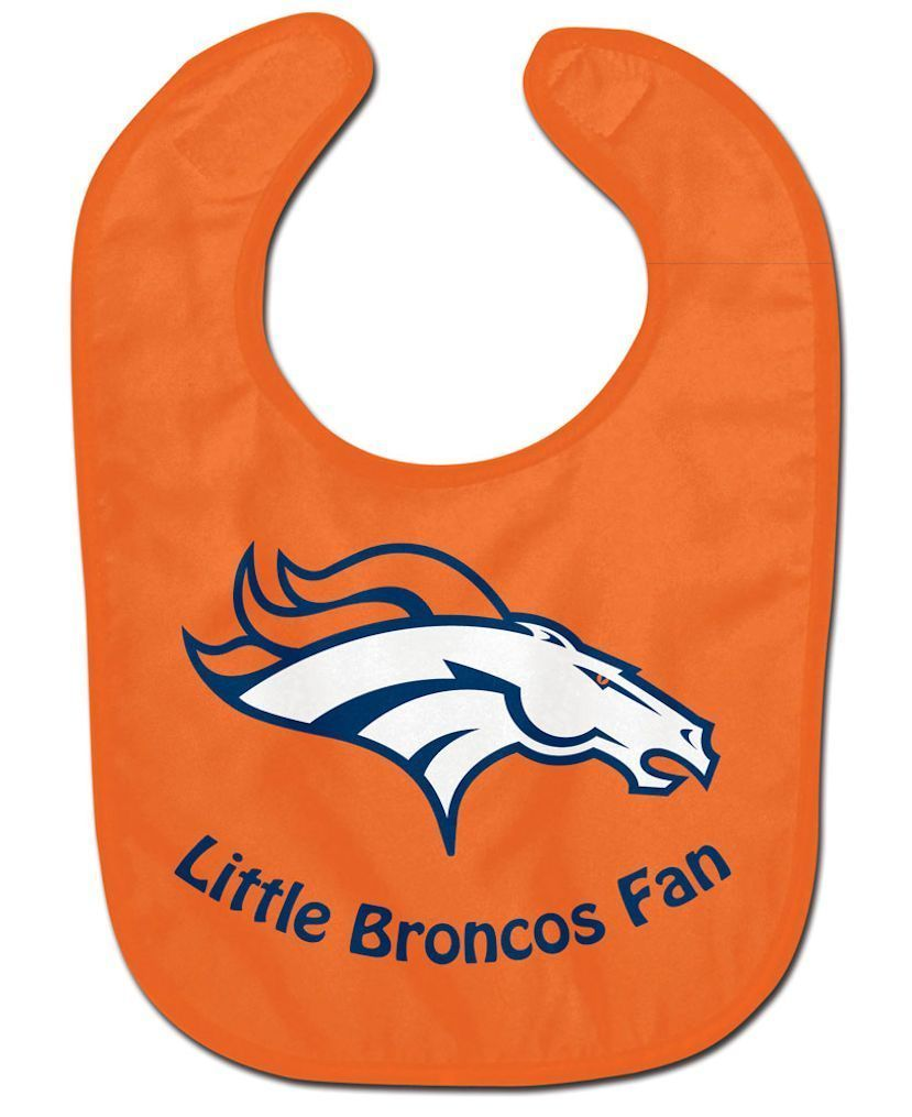 DENVER BRONCOS ALL PRO BABY BIB VELCRO CLOSURE TEAM COLORS & LOGO NFL FOOTBALL
