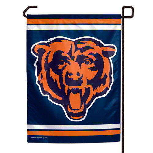 "CHICAGO BEARS TEAM GARDEN WALL FLAG BANNER 11"" X 15"" NFL FOOTBALL"