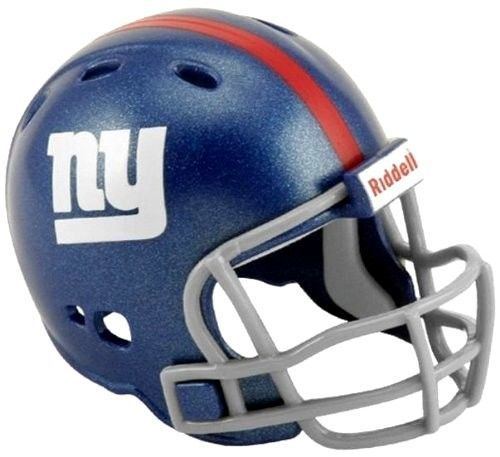 "2 NEW YORK GIANTS POCKET PRO HELMET 2"" SIZE  Made By RIDDELL! NFL FOOTBALL"