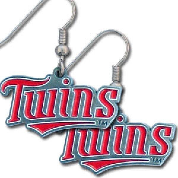 MINNESOTA TWINS DANGLE EARRINGS TEAM LOGO PARTY TAILGATE MLB BASEBALL