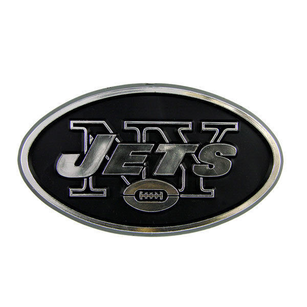 NEW YORK JETS CAR AUTO 3-D CHROME SILVER TEAM LOGO EMBLEM NFL FOOTBALL
