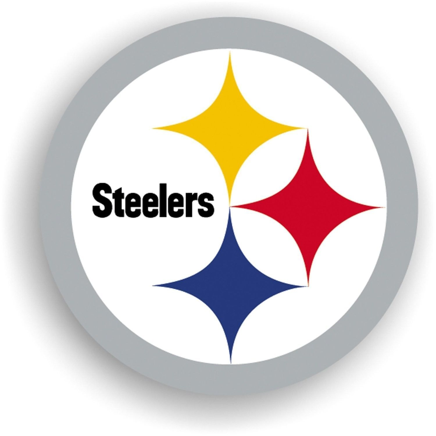 "PITTSBURGH STEELERS 12"" (LOGO) MAGNET for CAR AUTO FRIDGE METAL NFL FOOTBALL #1"