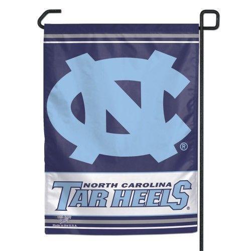 """NORTH CAROLINA TAR HEELS TEAM GARDEN YARD WALL FLAG BANNER 11"""" X 15"""" NCAA"""