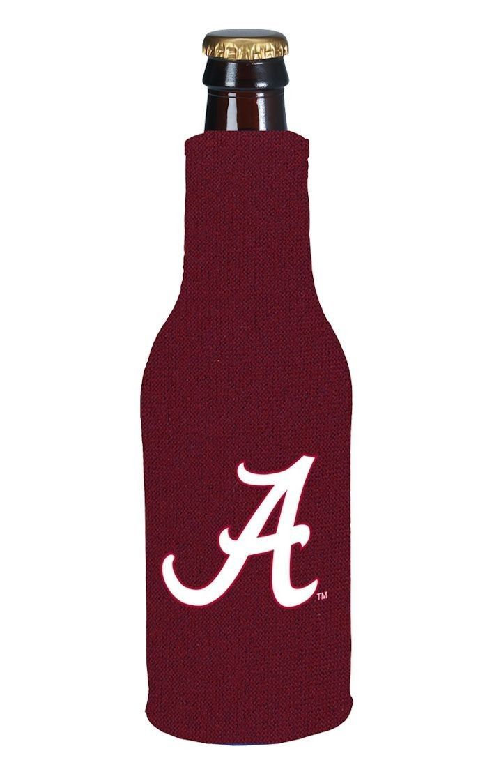 ALABAMA CRIMSON TIDE BEER SODA WATER BOTTLE ZIPPER KOOZIE COOLIE HOLDER