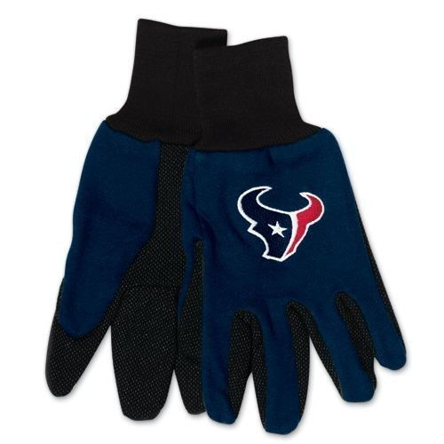 HOUSTON TEXANS TAILGATE GAME DAY PARTY UTILITY WORK GLOVES NFL FOOTBALL