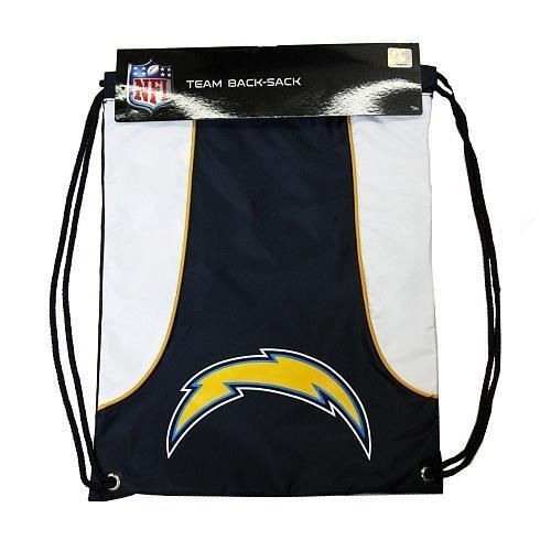 SAN DIEGO CHARGERS BACK SACK PACK SCHOOL GYM BAG NFL FOOTBALL