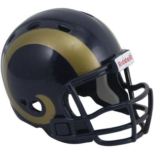 "ST. LOUIS RAMS POCKET PRO HELMET 2"" SIZE  Made By RIDDELL! NFL FOOTBALL"