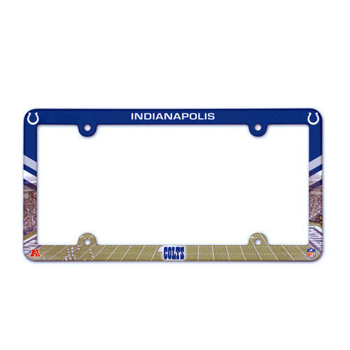 INDIANAPOLIS COLTS COLOR CAR AUTO PLASTIC LICENSE PLATE TAG FRAME NFL FOOTBALL