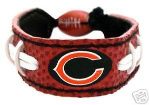 CLASSIC FOOTBALL LEATHER LACES BRACELET CHICAGO BEARS