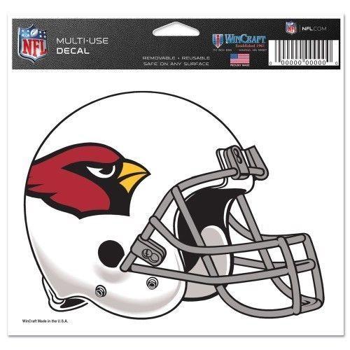 """ARIZONA CARDINALS NFL FOOTBALL HELMET ULTRA DECAL 5""""X6"""" CLEAR WINDOW FILM"""