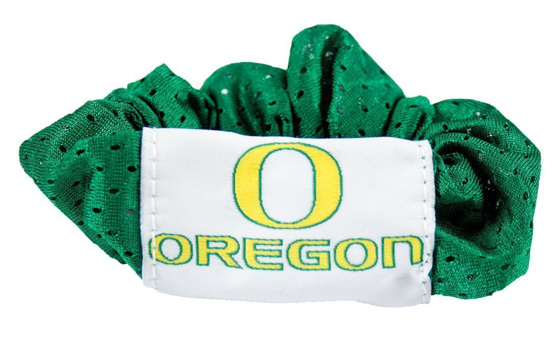 OREGON DUCKS SCRUNCHIE HAIR TWIST PONYTAIL HOLDER TEAM SCHOOL LOGO NCAA