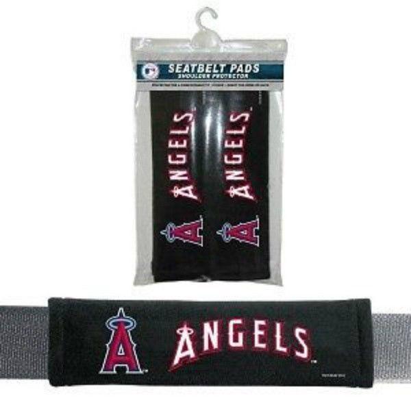 LOS ANGELES ANGELS 2 VELOUR SEAT BELT LAPTOP GYM BAG SHOULDER PADS MLB BASEBALL