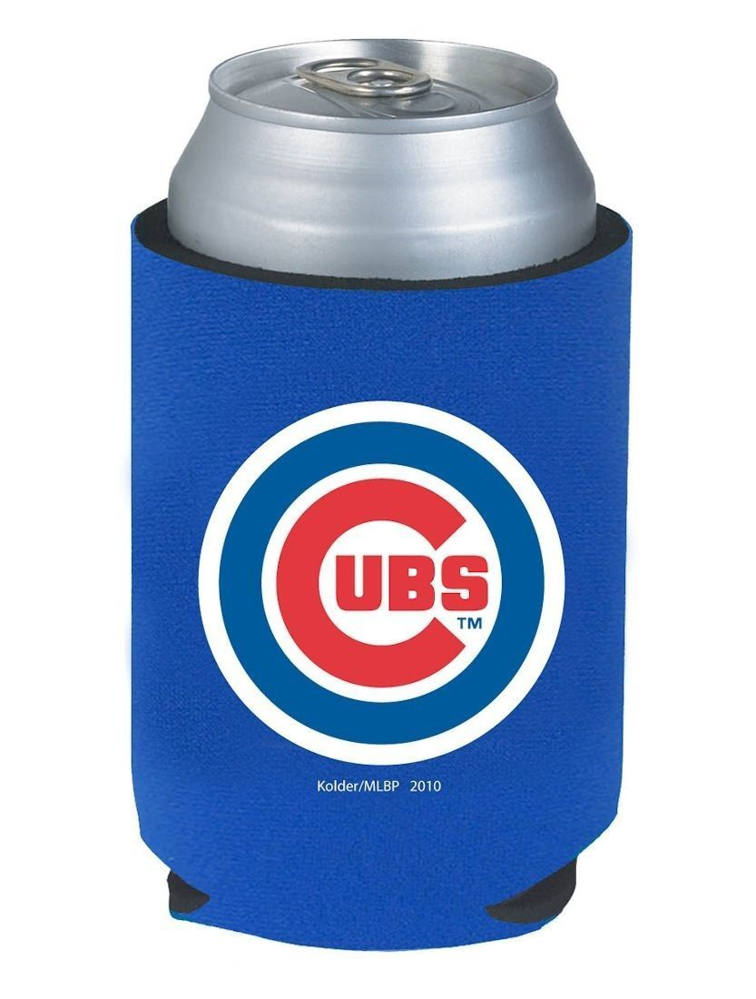 2 CHCAGO CUBS BEER SODA WATER CAN KADDY BOTTLE KOOZIE HOLDER MLB BASEBALL