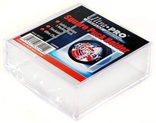 4 SQUARE HOCKEY PUCK ULTRA CLEAR DISPLAY CASE HOLDER ULTRA PRO REGULATION SIZE