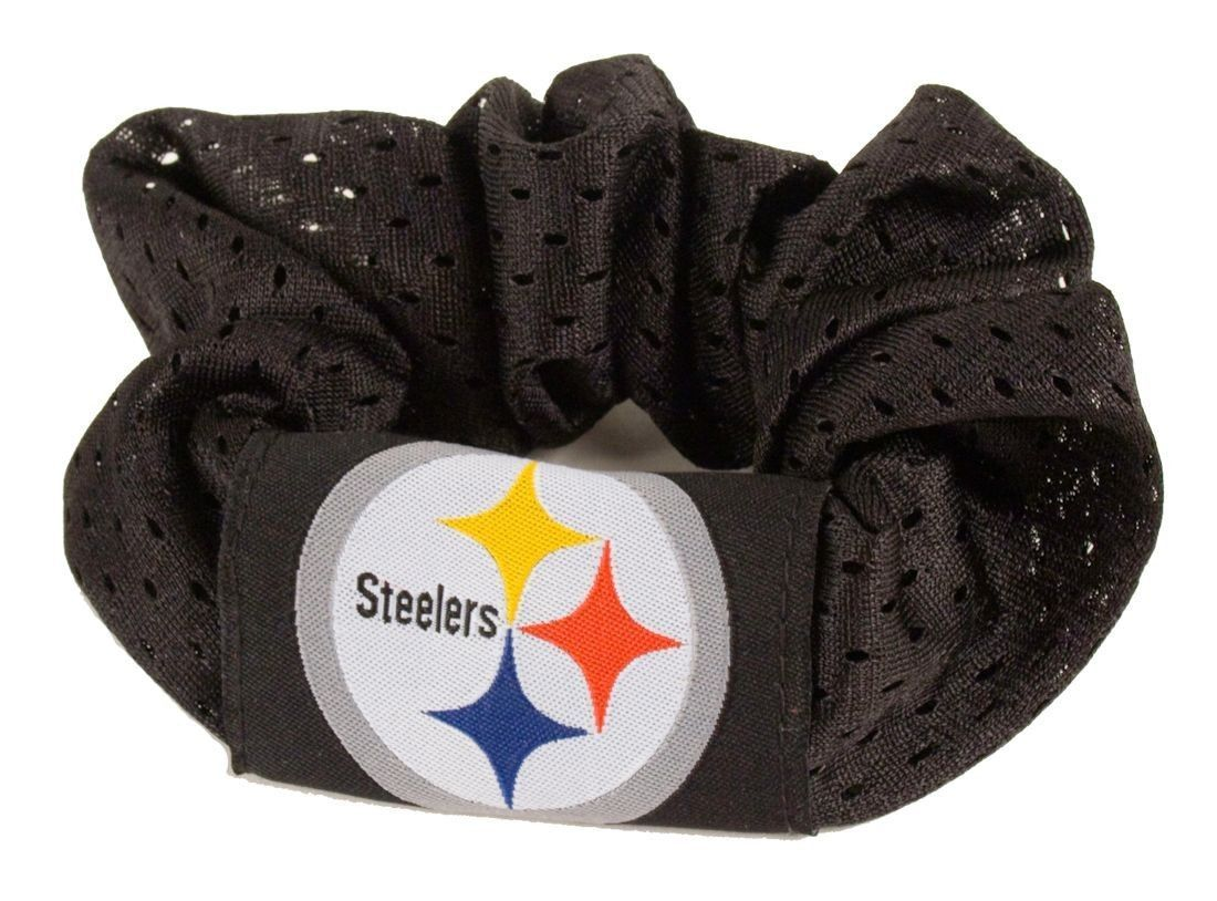 PITTSBURGH STEELERS SCRUNCHIE HAIR TWIST PONYTAIL HOLDER TEAM LOGO NFL FOOTBALL