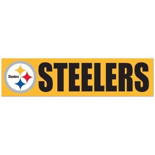 "2 PITTSBURGH STEELERS CAR BUMPER STICKER DECAL 3"" X 12"" STRIP NFL FOOTBALL"