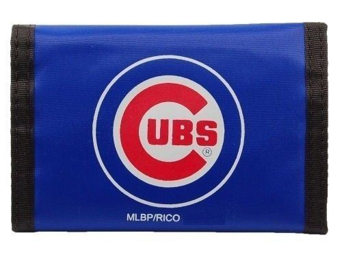 CHICAGO CUBS NYLON TEAM LOGO TRIFOLD WALLET  MLB BASEBALL
