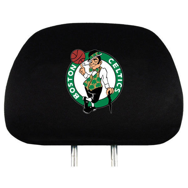 BOSTON CELTICS CAR/AUTO 2 TEAM HEADREST COVERS NBA BASKETBALL