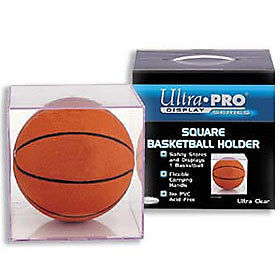 BASKETBALL CRYSTAL CLEAR REGULATION SIZE DISPLAY CASE NBA NCAA COLLEGE YOUTH