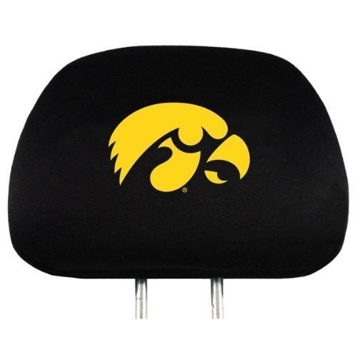 IOWA HAWKEYES CAR AUTO 2 TEAM HEAD REST COVERS NCAA