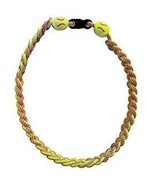 SOFTBALL TITANIUM IONIC BRAIDED NECKLACE & WRISTBAND BRACELET - $24.71