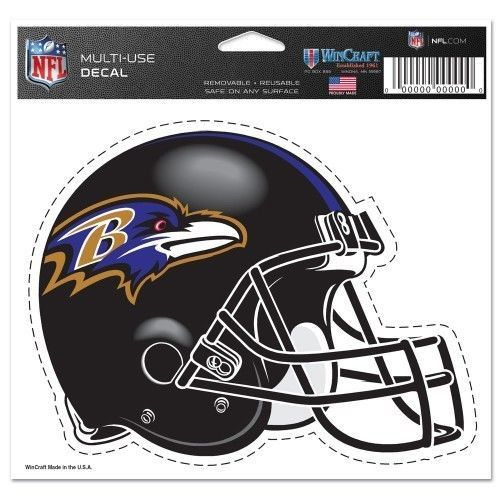 "BALTIMORE RAVENS NFL FOOTBALL HELMET ULTRA DECAL 5""X6"" CLEAR WINDOW FILM"