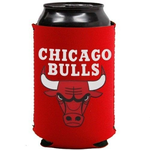2 CHICAGO BULLS BEER SODA CAN BOTTLE KOOZIE KADDY HOLDER NBA BASKETBALL