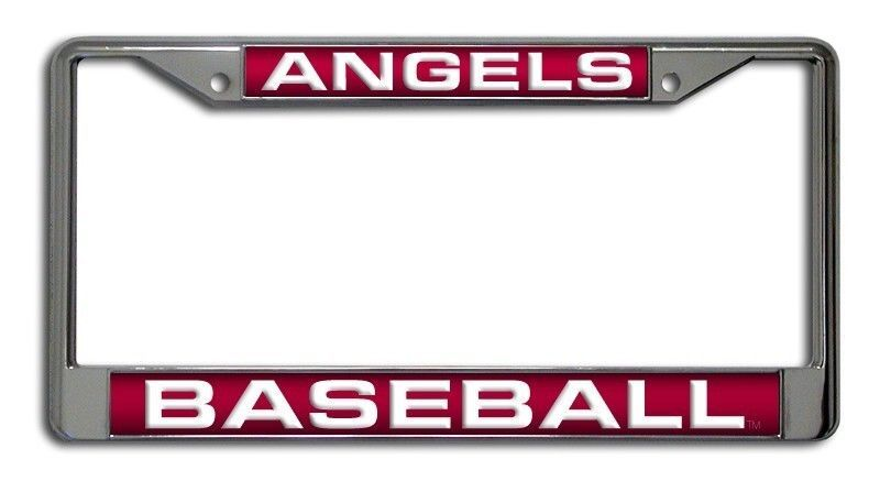 LOS ANGELES ANGELS  of ANAHEIM CAR LASER MIRROR CHROME LICENSE FRAME BASEBALL