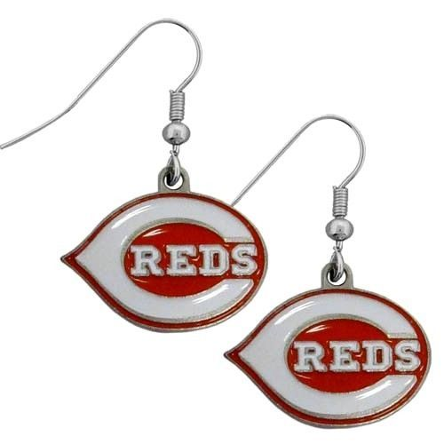 CINCINNATI REDS PAIR DANGLE EARRINGS TEAM LOGO PARTY TAILGATE MLB BASEBALL