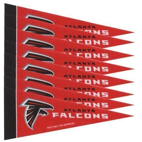 ATLANTA FALCONS 8 PIECE FELT MINI PENNANTS SET PACK NFL FOOTBALL #1