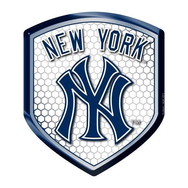 NEW YORK YANKEES HIGH INTENSITY REFLECTOR SHIELD DOMED TEAM MLB BASEBALL DECAL 1