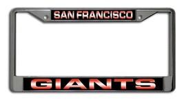SAN FRANCISCO GIANTS LASER MIRROR CHROME CAR LICENSE FRAME MLB BASEBALL - $17.50