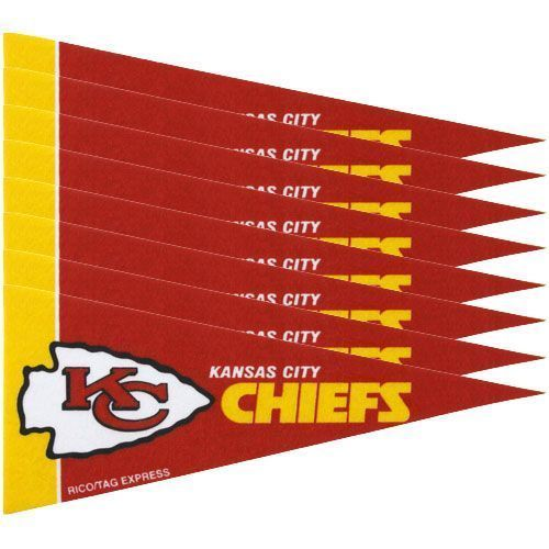 KANSAS CITY CHIEFS 8 PIECE FELT MINI PENNANTS SET PACK NFL FOOTBALL