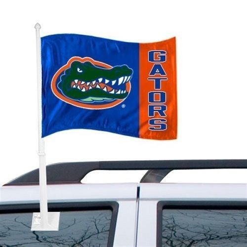 "FLORIDA GATORS CAR AUTO FLAG BANNER & POLE 2 SIDED 11"" X 15"" X POLE 20"""
