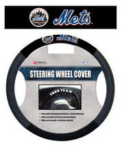 NEW YORK METS MESH SUEDE CAR AUTO STEERING WHEEL COVER - $18.61