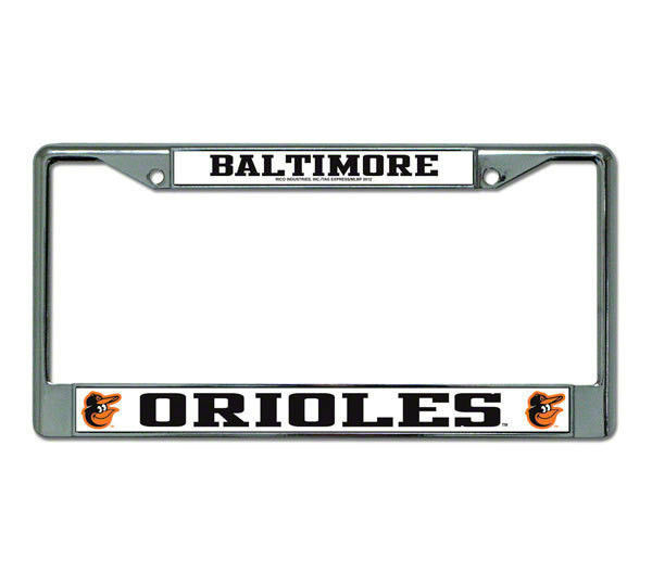 BALTIMORE ORIOLES CAR AUTO CHROME METAL LICENSE PLATE FRAME MLB BASEBALL