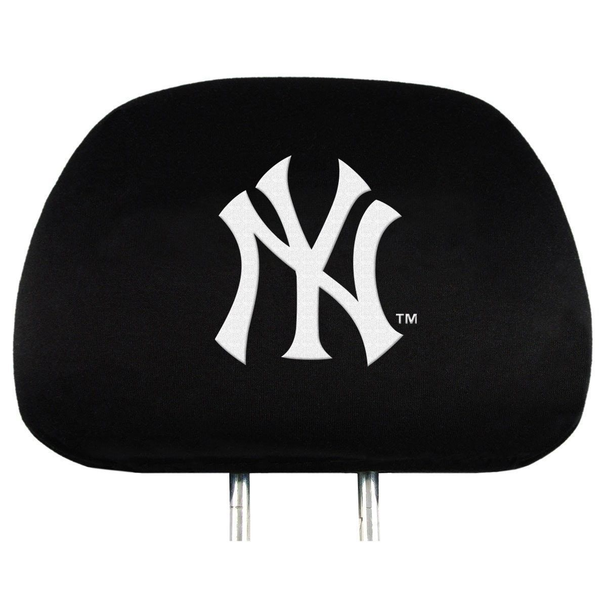 NEW YORK YANKEES CAR AUTO 2 TEAM HEADREST COVERS  MLB BASEBALL #1