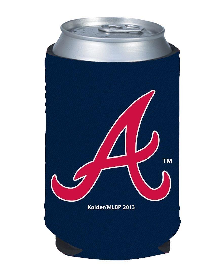 2 ATLANTA BRAVES BEER SODA WATER CAN KADDY BOTTLE KOOZIE HOLDER MLB BASEBALL