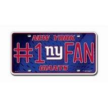 NEW YORK GIANTS #1 FAN CAR AUTO METAL LICENSE PLATE NFL FOOTBALL - $8.33